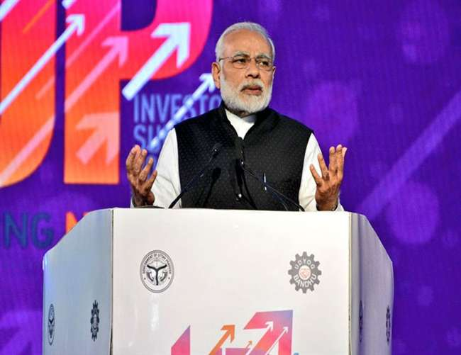 Indian PM Narendra Modi UP Investors Summit