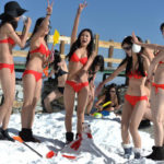 Bikini Women Bathing Snow