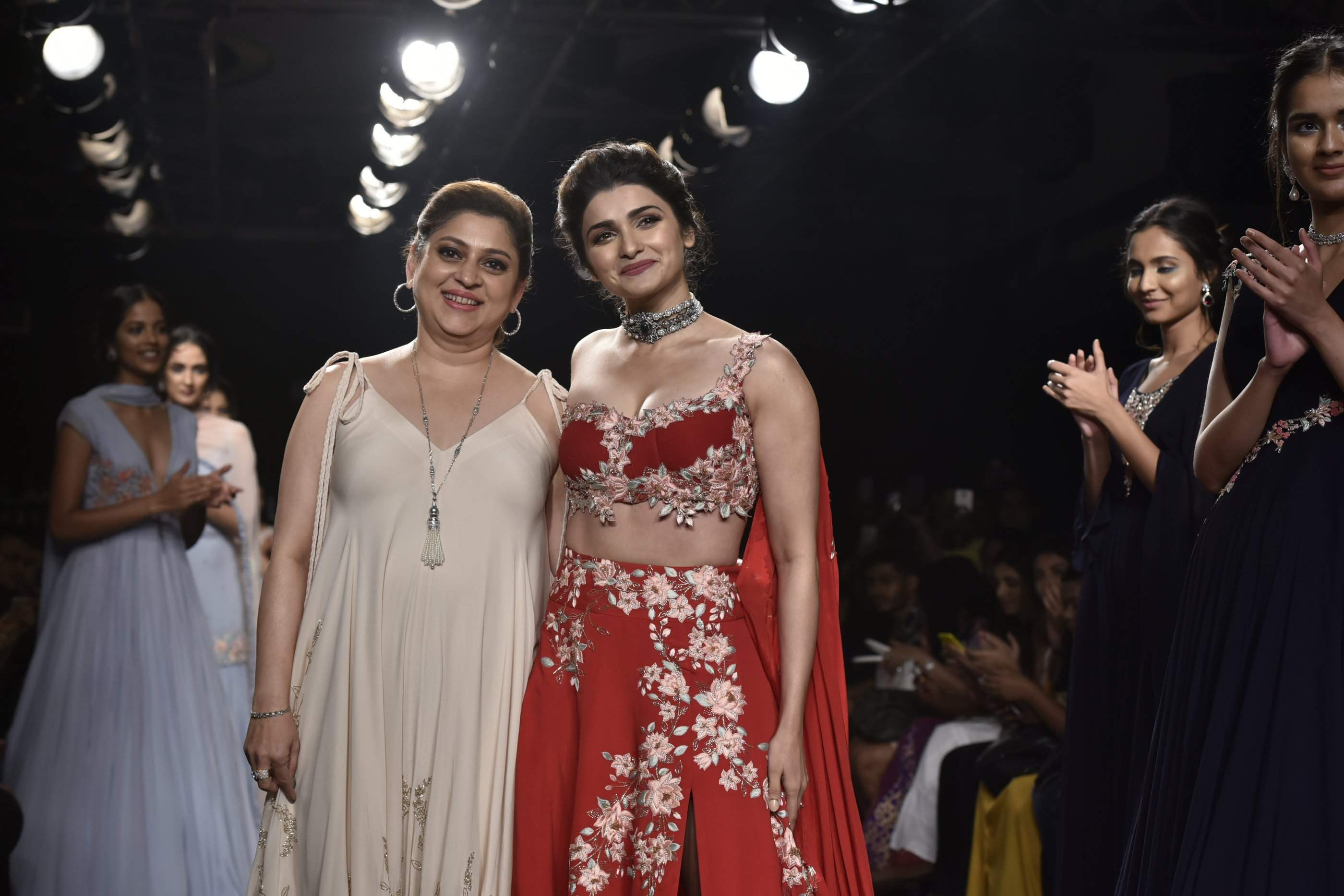 Prachi Desai sizzles in red in 'Julie' by Julie Shah at Lakme Fashion Week