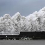 Pictures of Japan hit by the most violent typhoon in 25 years