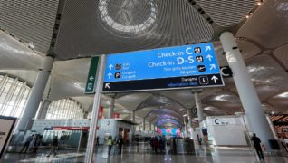 FILE PHOTO: A terminal of the Istanbul's new airport is pictured prior to the official opening ceremony